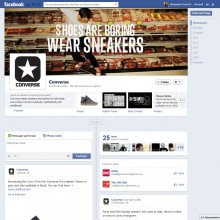 Page Facebook de Converse