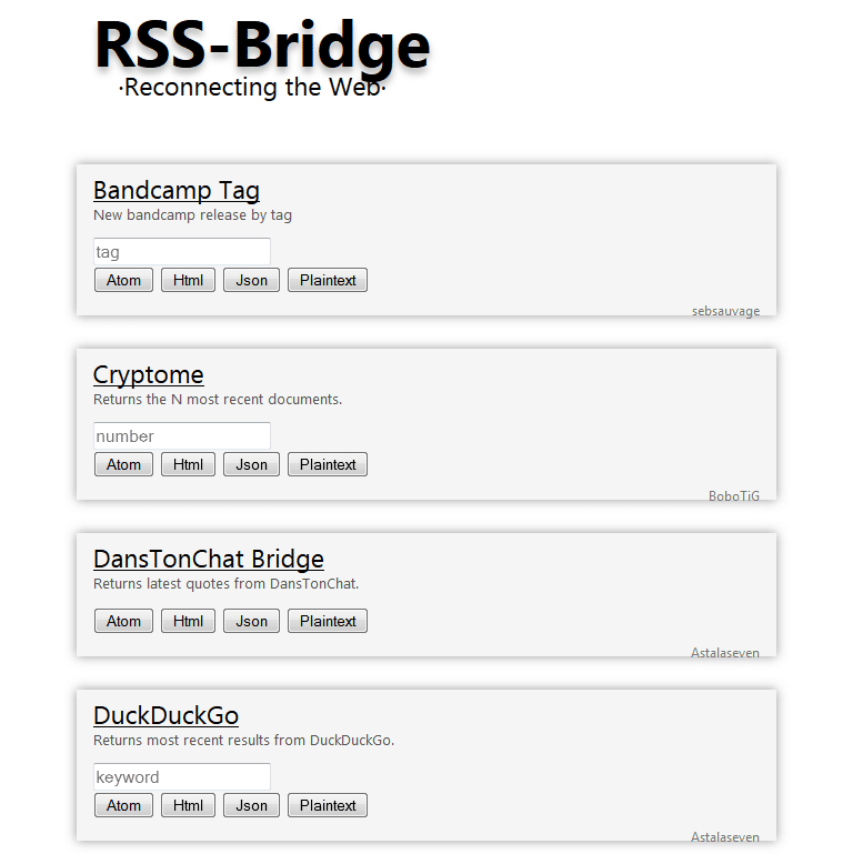 RSS Bridge