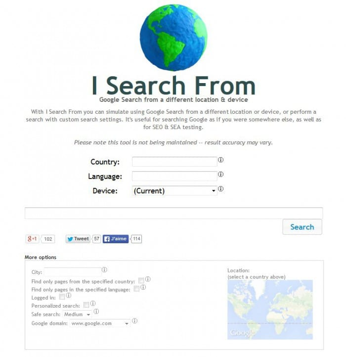 I Search From