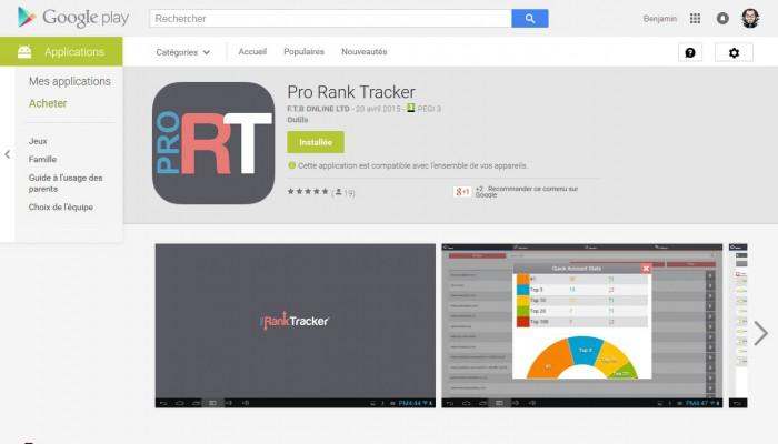 Application Pro Rank Tracker