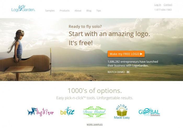 Logo Garden, logiciel creation logo gratuit en ligne