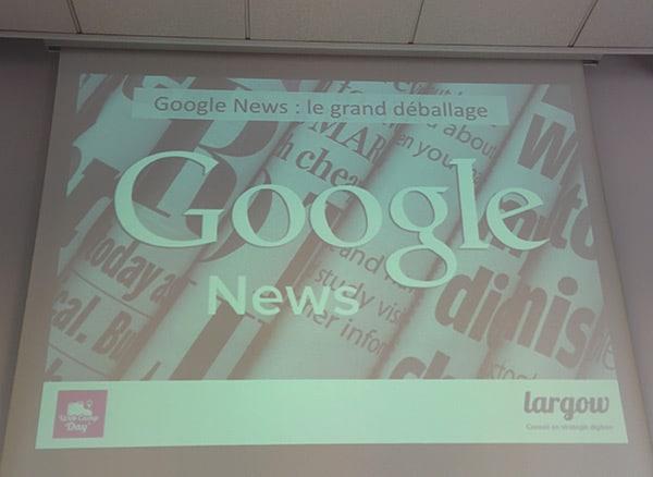WebCampDay 2015 conférence sur Google News avec Virginie Clève