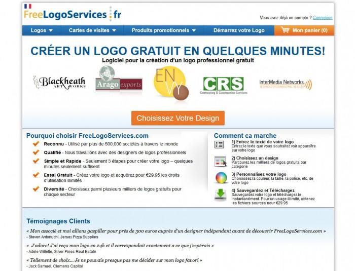 Free Logo Services, logiciel creation logo gratuit en ligne