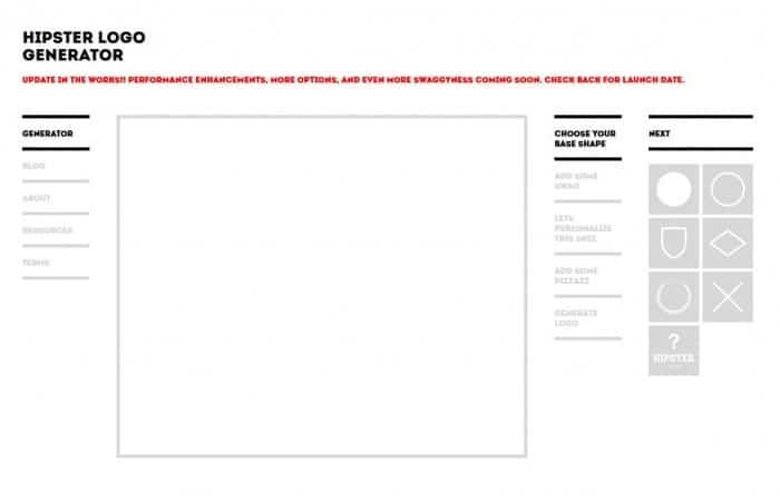Hipster Logo Generator, logiciel creation logo gratuit en ligne