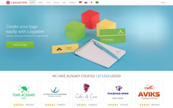 Logaster, logiciel creation logo gratuit en ligne