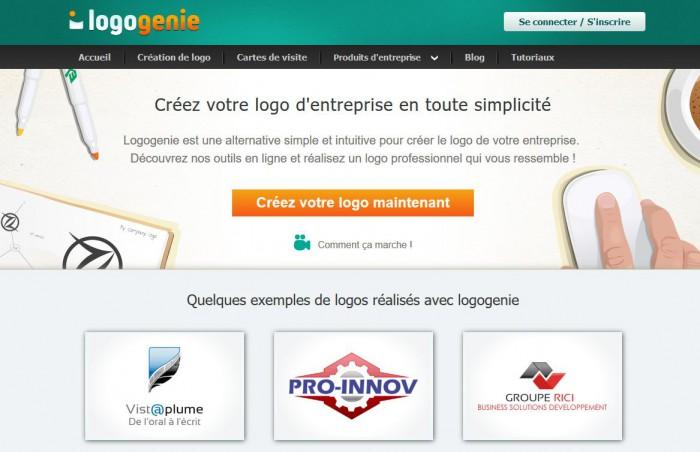 Logo Genie, logiciel creation logo gratuit en ligne