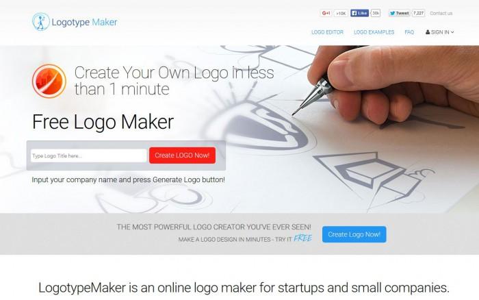 Logotype Maker, logiciel creation logo gratuit en ligne
