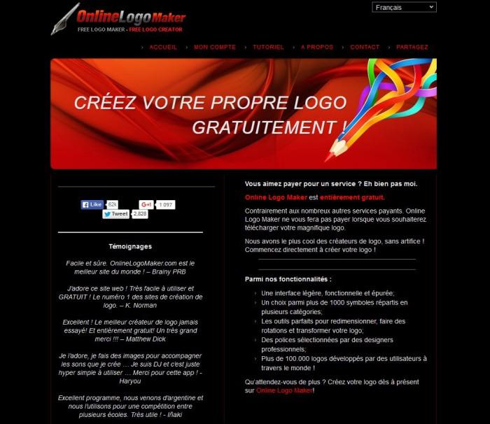 Online Logo Maker, logiciel creation logo gratuit en ligne