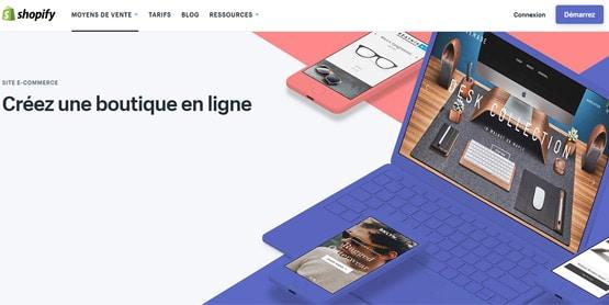 Test de la solution e-commerce Shopify